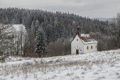 Paesaggio polacco di inverno immagini stock libere da diritti