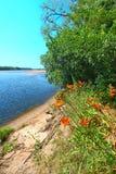 Paesaggio Portage del fiume Wisconsin fotografie stock libere da diritti