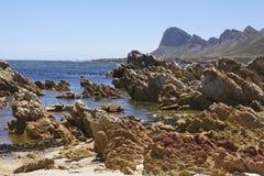 Paesaggio roccioso del mare Fotografie Stock