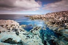 Paesaggio roccioso dell'Oceano Atlantico in Burren Fotografia Stock Libera da Diritti