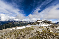 Paesaggio roccioso della montagna Fotografie Stock