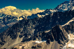 Paesaggio roccioso delle alpi del sud in Nuova Zelanda Immagine Stock Libera da Diritti