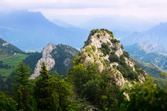 Paesaggio roccioso di Pirenei Fotografia Stock Libera da Diritti