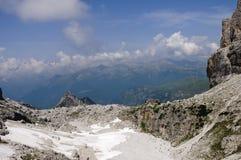 Paesaggio roccioso nelle alpi italiane Fotografia Stock Libera da Diritti