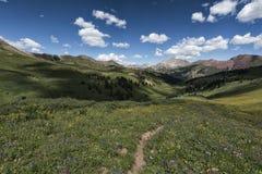 Paesaggio in Rocky Mountains, regione selvaggia marrone rossiccio-Snowmass Immagini Stock