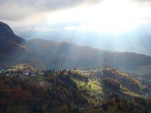 Paesaggio Romania di autunno Fotografia Stock