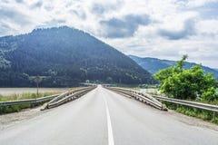 Paesaggio in Romania, viadotto di Bicaz Fotografia Stock Libera da Diritti