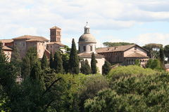 Paesaggio romano Fotografia Stock