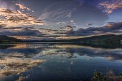 Paesaggio romantico del lago in Europa Fotografie Stock Libere da Diritti