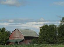 Paesaggio rosso del granaio di Wisconsin Fotografia Stock Libera da Diritti