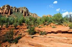 Paesaggio rosso della natura della roccia in sedona Immagini Stock Libere da Diritti