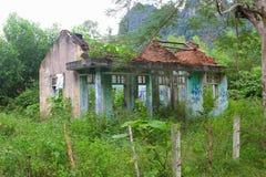 Paesaggio rovinato della giungla della casa, Phong Nha, Vietnam immagine stock