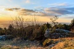 Paesaggio rurale adorabile di tramonto Immagine Stock Libera da Diritti