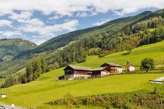 Paesaggio rurale alpino in Carinzia, Austria Immagine Stock Libera da Diritti