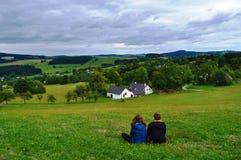 Paesaggio rurale ceco, repubblica Ceca fotografia stock libera da diritti