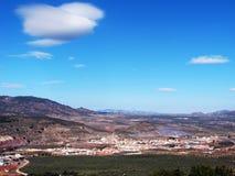Paesaggio rurale con di olivo Immagini Stock Libere da Diritti