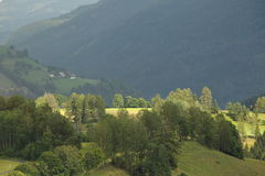 Paesaggio rurale dalle alpi Fotografia Stock