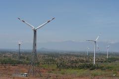 Paesaggio rurale del mulino di vento Fotografie Stock Libere da Diritti