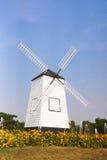 Paesaggio rurale del mulino di vento Fotografie Stock