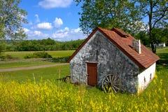 Paesaggio rurale del paese americano e vecchia fattoria Fotografia Stock Libera da Diritti
