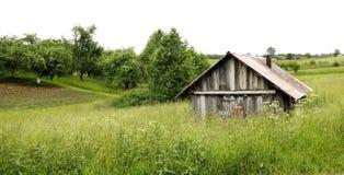 Paesaggio rurale dell'Europa settentrionale Fotografia Stock