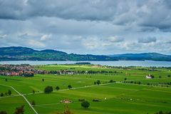 Paesaggio rurale della Baviera in Germania Immagine Stock