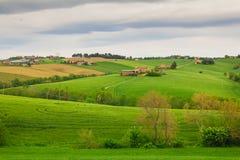 Paesaggio rurale della Marche Fotografie Stock Libere da Diritti