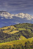Paesaggio rurale della montagna Fotografie Stock