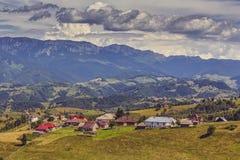 Paesaggio rurale della montagna Immagini Stock