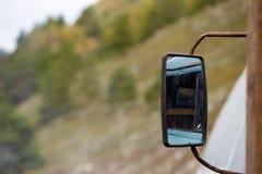 Paesaggio rurale Paesaggio della montagna altai Fotografia Stock