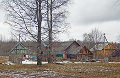 Paesaggio rurale della sorgente Immagine Stock