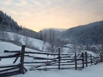 Paesaggio rurale di alba Fotografie Stock