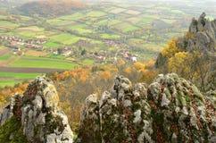 Paesaggio rurale di autunno immagini stock