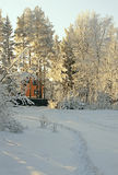 Paesaggio rurale di bello inverno Fotografia Stock