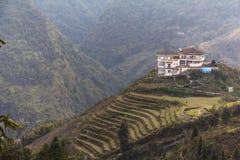 Paesaggio rurale di PA del Sa, Vietnam Fotografie Stock