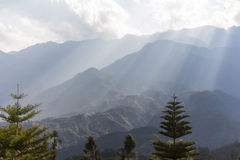 Paesaggio rurale di PA del Sa, Vietnam Fotografia Stock