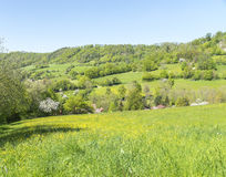 Paesaggio rurale di primavera Fotografie Stock Libere da Diritti