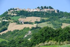 Paesaggio rurale di Ripatransone sulla Marche immagini stock libere da diritti