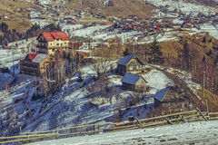 Paesaggio rurale durante il disgelo della molla Immagine Stock Libera da Diritti