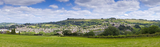 Paesaggio rurale idilliaco, Cotswolds Regno Unito Fotografia Stock