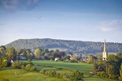 Paesaggio rurale idilliaco, Cotswolds Regno Unito fotografia stock libera da diritti