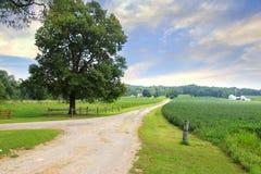 Paesaggio rurale in Indiana fotografie stock libere da diritti