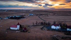 Paesaggio rurale in Islanda Fotografia Stock Libera da Diritti