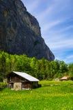 Paesaggio rurale in Lauterbrunnen, Svizzera Fotografie Stock Libere da Diritti
