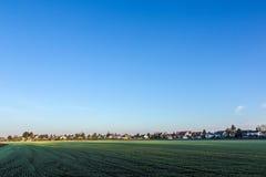 Paesaggio rurale a Monaco di Baviera con il nuovo stabilimento Fotografia Stock Libera da Diritti