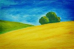 Paesaggio rurale, natura con i campi Fotografie Stock