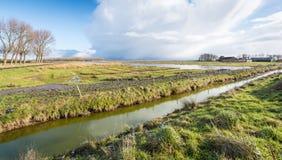 Paesaggio rurale nei Paesi Bassi Fotografia Stock