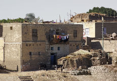 Paesaggio rurale nell'Egitto Immagine Stock