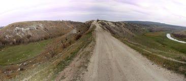 Paesaggio rurale, Rogojeni, Moldavia Fotografie Stock Libere da Diritti