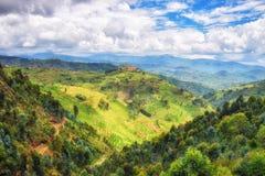 Paesaggio rurale Ruanda immagini stock libere da diritti